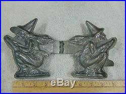 Antique Pewter Witch Ice Cream Chocolate Butter Mold #1153 Schall & Co