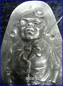 Antique Vintage Chocolate Candy Sugar Ice Cream Mold Shape Figure Clown O' Mally