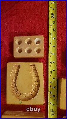 Antique Vintage Chocolate Mold Candy Icecream Butter I B Davis Ceramic Plaster