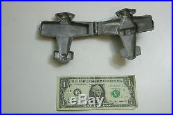 Antique / Vintage E & Co 1132 Figural Airplane Ice Cream Chocolate Pewter Mold