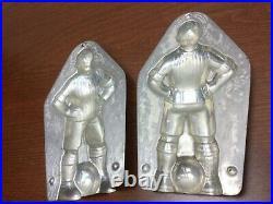 Antique Vtg tin Chocolate / Ice Cream Mold Anton Reiche Football Soccer Player