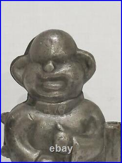 Antique Yellow Kid Comic Figure Pewter Chocolate Candy Ice Cream Mold