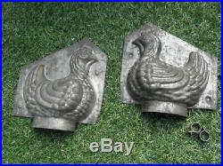 Antique mould Mold chocolate chicken Ice cream Candy french century old pastry
