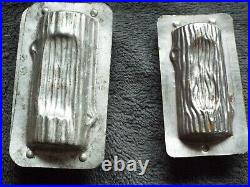Antique mould Mold chocolate log wood trunk Ice cream french century pastry