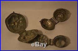 Antique pewter ice cream chocolate jelly mold set