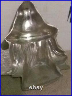 Antique vintage Witch Pewter Ice Cream/Chocolate Mold by E & Co. NY