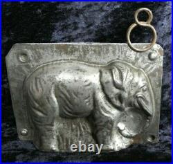 Antique vintage metal iron chocolate candy sugar ice cream mold / elephant shape