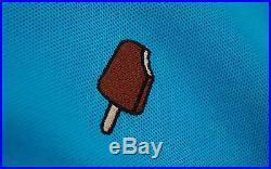 BBC/ICE CREAM CHOCOLATE BAR PIQUE POLO SHIRT BLUE MENS M milo bape pharrell