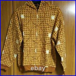 BILLIONAIRE BOYS CLUB ice cream hoodie size L waffle pattern chocolate plate