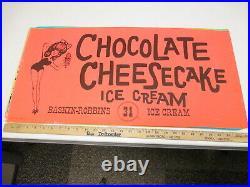 Baskin Robbins ice cream 1969 store sign poster CHOCOLATE CHEESECAKE swimsuit