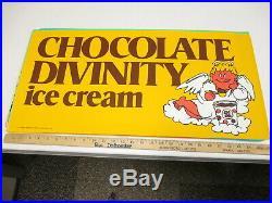 Baskin Robbins ice cream 1975 store display sign poster CHOCOLATE DIVINITY angel