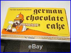 Baskin Robbins ice cream 1975 store sign poster Red Baron GERMAN CHOCOLATE CAKE