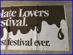 Baskin Robbins ice cream 1980s store display sign CHOCOLATE LOVERS FESTIVAL 8