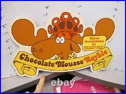 Baskin Robbins ice cream 1980s store sign CHOCOLATE MOUSSE Bullwinkle moose B