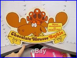 Baskin Robbins ice cream 1980s store sign CHOCOLATE MOUSSE moose Bullwinkle A