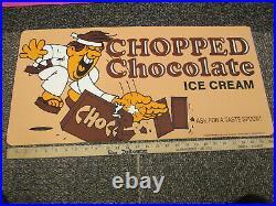 Baskin Robbins ice cream'77 store display sign kung fu karate CHOPPED CHOCOLATE
