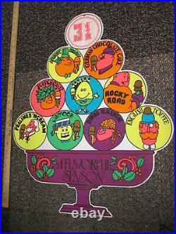 Baskin Robbins ice cream Christmas ornament 1970s store sign German chocolate 7
