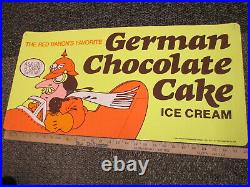 Baskin Robbins ice cream GERMAN CHOCOLATE CAKE 1981 store sign Red Baron plane