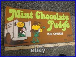 Baskin Robbins ice cream MINT CHOCOLATE FUDGE 1979 store sign bank armored car