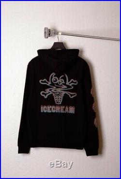 Bbc Ice Cream Pullover Hood Sweatshirt Running Dog Chocolate Black Hoodie S-xxl