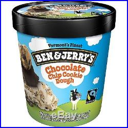 Ben & Jerry's Chocolate Chip Cookie Dough Ice Cream (1 pt. Container, 8 ct.)