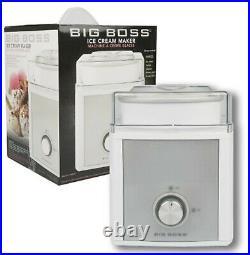 Big Boss 8882 2-Quart Ice Cream Maker, 2 Liter, White