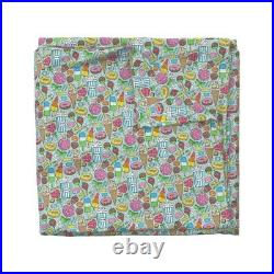 Candy Sweets Icecream Donuts Popcorn Chocolate Sateen Duvet Cover by Roostery