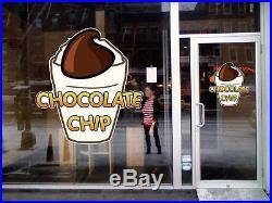 Chocolate Ice Cream Concession Restaurant Food Truck Die-Cut Vinyl Sticker