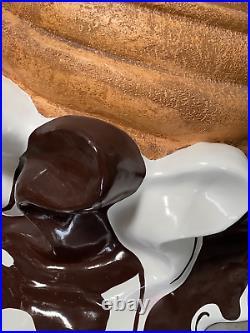 Chocolate Melting Ice Cream Over Sized Statue