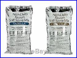 Commercial Soft Serve Non-Dairy Ice Cream Mix. 1 Case. 6 Bags. Choose Flavor