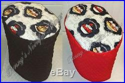 Custom Quilted Ice Cream Desserts Cover Set for Kitchen Countertop Appliances