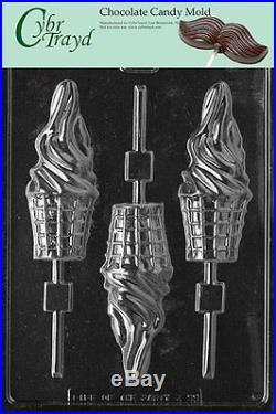 Cybrtrayd K099 Ice Cream Cone Lolly Kids Chocolate Candy Mold, New