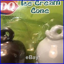 DQ Dairy Queen 2 Ice Cream Cones Chocolate Vanilla Boley Play Pretend Fake Food