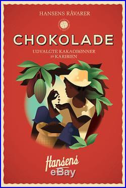Danish Modern Art Poster Mads Berg, Hansens Copenhagen Chocolate Ice Cream
