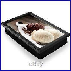 Deluxe Lap Tray Chocolate Vanilla Ice Cream Scoops Home Gift #21349