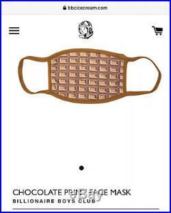 Designer Face Mask. New BBC Billionaire Boys Club Ice Cream Chocolate Waffle