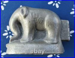 ELEPHANT Pewter ICE CREAM chocolate Mold #169 Krauss / Schall & Co