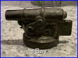 E. & Co. NY Vintage 2-Pc Hinged Cast Pewter Cannon Ice Cream Chocolate Mold