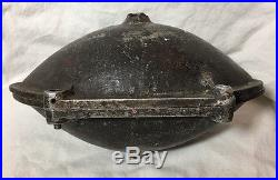 Early Football Shaped Heavy/Large Ice Cream/Candy Mold Chocolate Vintage Sports