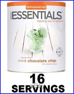 Emergency Essentials Freeze-Dried Mint Chocolate Chip Ice Cream Slices, 14 oz