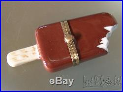 Eximious Limoges France Bitten Chocolate Ice Cream Bar Hinged Box