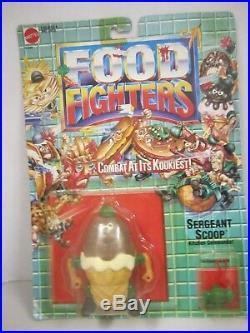 FOOD FIGHTERS Sergeant Scoop Ice Cream Cone Figure Chocolate 1989 Mattel