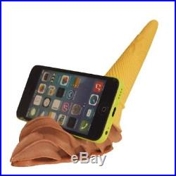 Fake Food Dropped Soft Serve Chocolate Ice Cream Smartphone Stand Made in Japan