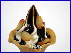 Fake Food Flower Cone Soft Serve Vanilla Ice Cream Chocolate Almond Japan NEW