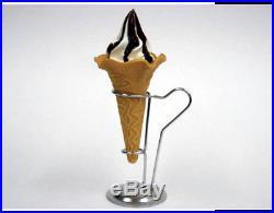 Fake Food Flower Cone Soft Serve Vanilla Ice Cream Chocolate Sauce Japan F/S NEW