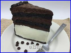 Fake Food Replica CHOCOLATE ICE CREAM CAKE SLICE Realistic Dessert Display Prop