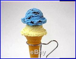 Fake Food Soft Cone Chocolate Mint & Vanilla Ice Cream Made in Japan F/S NEW