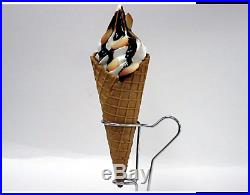 Fake Food Waffle Cone M Size Soft Serve Vanilla Ice Cream Chocolate Almond Japan