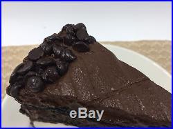 Fake Plastic CHOCOLATE ICE CREAM CAKE SLICE Realistic Dessert Display Replica