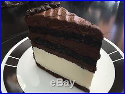 Fake plastic chocolate/ ice cream cake slice realistic faux food imitation prop